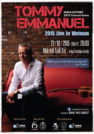 Le guitariste legendaire Tommy Emmanuel se produira au Vietnam hinh anh 1