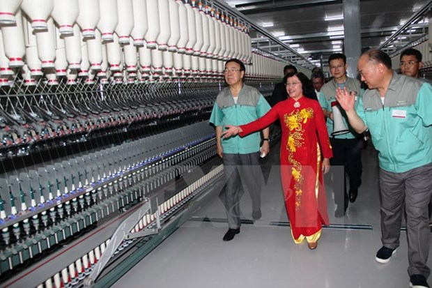 Tay Ninh : inauguration d'une usine de fibres textiles hinh anh 1