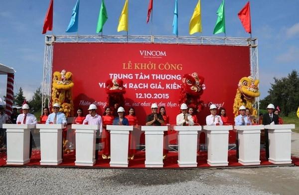 Mise en chantier d'un centre commercial Vincom a Kien Giang hinh anh 1