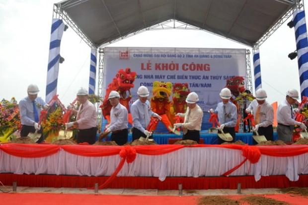 Une usine de transformation d'aliments pour les poissons tra de 20 millions de dollars a Dong Thap hinh anh 1
