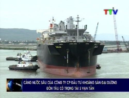 Un navire singapourien de 50.000 tonnes mouille au port en eau profonde de Nghi Son hinh anh 1