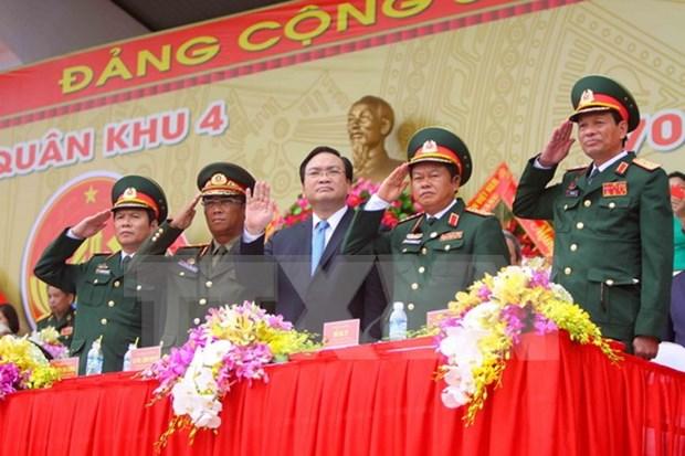 Celebration de la Journee traditionnelle des forces armees de la zone militaire N°4 hinh anh 1