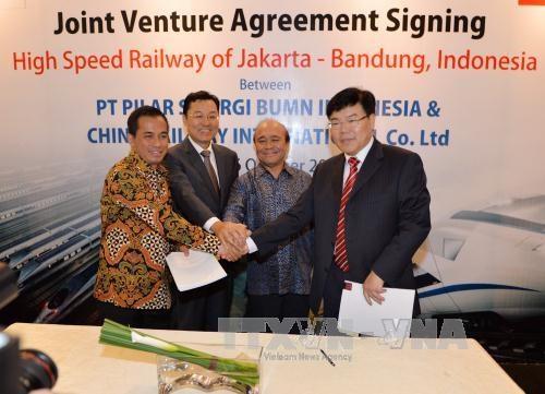La Chine construira une voie ferree a grande vitesse en Indonesie hinh anh 1