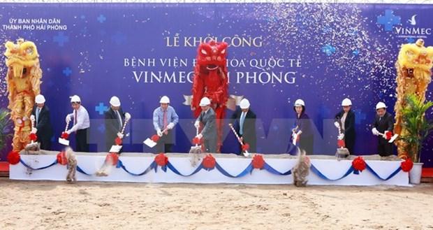 Vingroup: mise en chantier de la polyclinique internationale Vinmec Hai Phong hinh anh 1