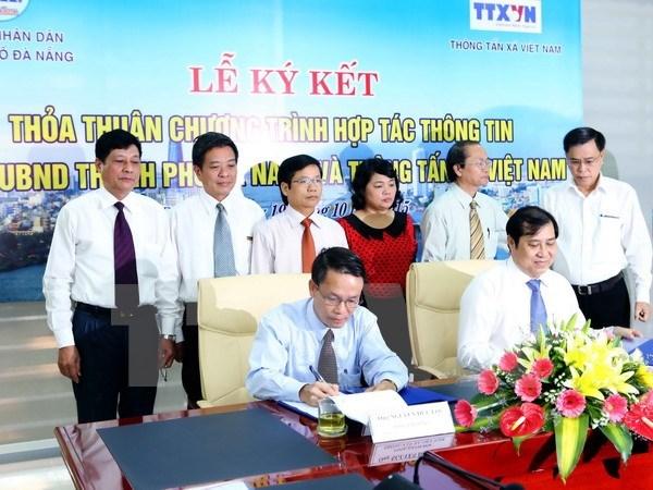 VNA et Da Nang signent une convention de cooperation dans l'information hinh anh 1