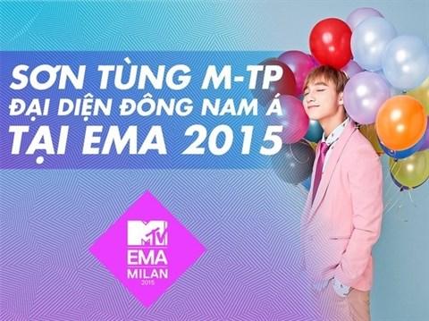 Son Tung M-TP representera l'Asie du Sud-Est aux EMA 2015 hinh anh 1