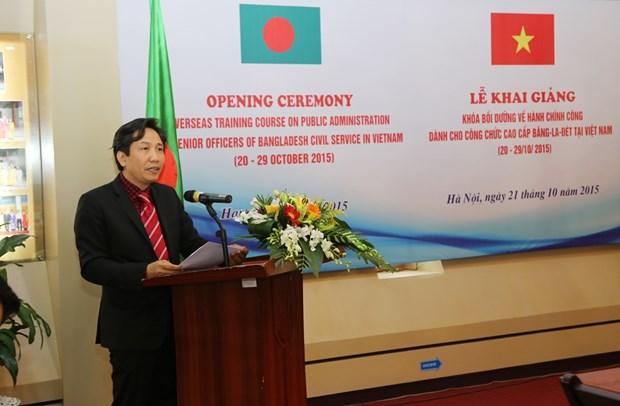 Formation en administration publique pour les cadres bangladais hinh anh 1