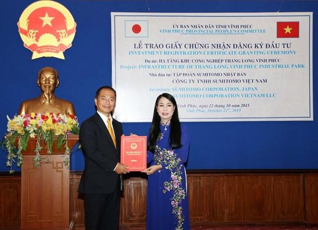 Vinh Phuc : remise de la licence d'investissement a un projet japonais hinh anh 1