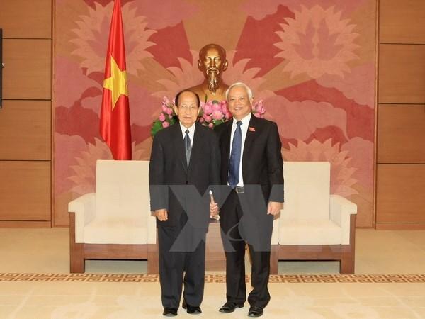 Une delegation du Comite de la paix et de la solidarite du Laos au Vietnam hinh anh 1
