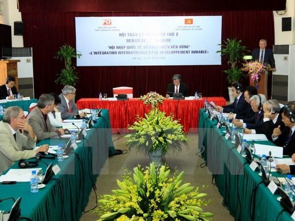 Vietnam-France: 2e seminaire theorique entre le PCV et le PCF hinh anh 1