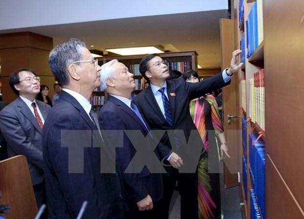 Inauguration d'une salle de lecture a la bibliotheque de l'AN hinh anh 1