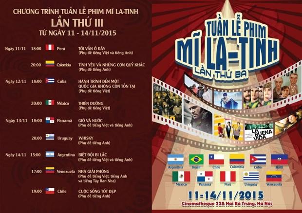 La troisieme Semaine du film d'Amerique latine a Hanoi hinh anh 1