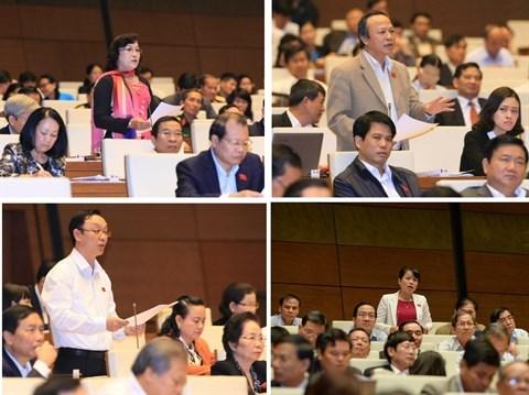L'essor socio-economique en 2015 sous la loupe des deputes hinh anh 1