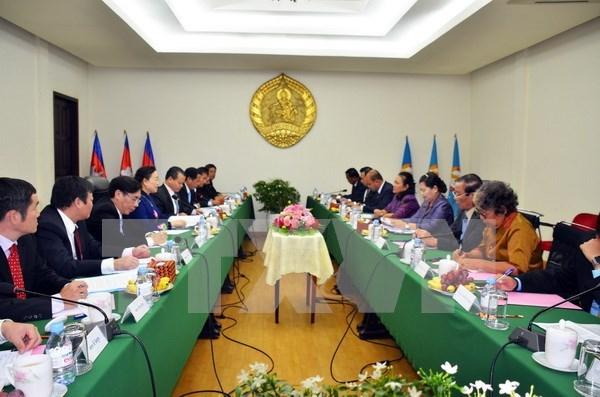 Une haute delegation du PCV en tournee de travail au Cambodge hinh anh 1