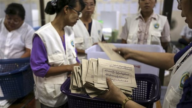 Fin du vote au Myanmar hinh anh 1