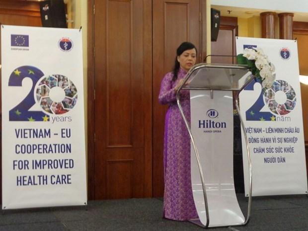 Celebration du 20e anniversaire de la cooperation Vietnam-UE dans la sante hinh anh 1