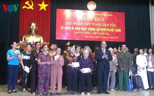 Des dirigeants participent a la Fete de grande union nationale a Hanoi hinh anh 1