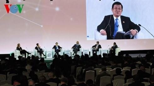 Le president Truong Tan Sang au Sommet des entreprises de l'APEC hinh anh 1
