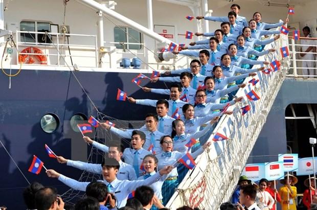 Le bateau de la jeunesse d'Asie du Sud-Est et du Japon a Ho Chi Minh-Ville hinh anh 1