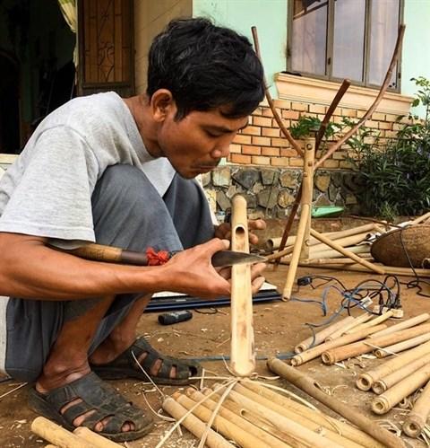 La musique provenant de bambous du Vietnam fascine le monde hinh anh 1