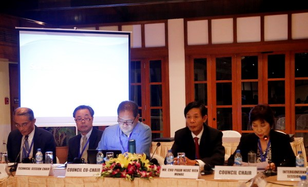 EAS 2015 : reunion du Conseil des partenaires des mers de l'Asie de l'Est hinh anh 1