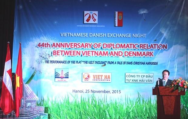 Soiree d'amitie Vietnam-Danemark hinh anh 1