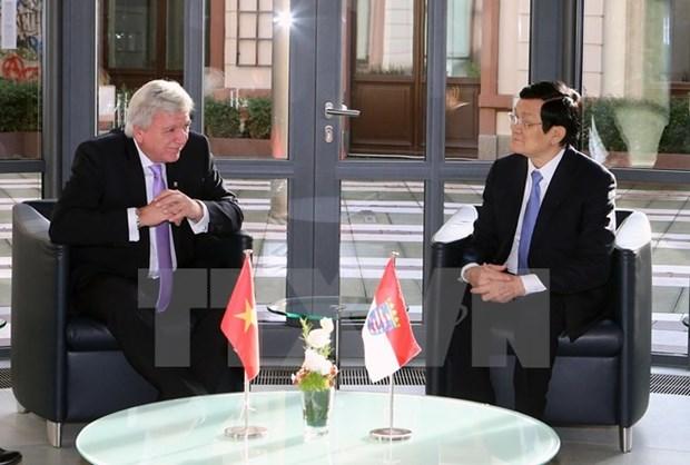 Activites du president Truong Tan Sang en Allemagne hinh anh 1