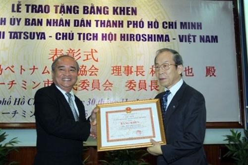 Le president de l'Association Hiroshima-Vietnam a l'honneur hinh anh 1
