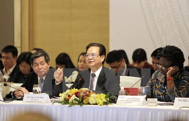 Le PM Nguyen Tan Dung au Forum du partenariat de developpement 2015 hinh anh 1
