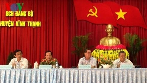 Le Hong Anh rencontre des electeurs de Can Tho hinh anh 1
