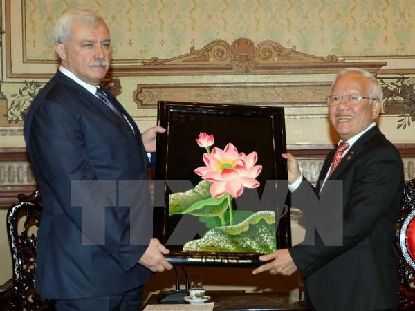 HCM-Ville et Saint-Petersbourg promeuvent leur cooperation multiforme hinh anh 1