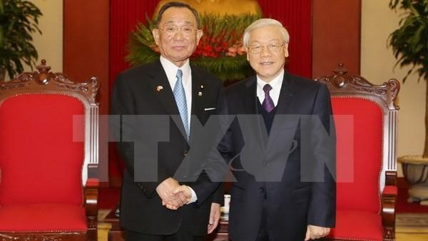 Les dirigeants vietnamiens plaident pour le partenariat strategique Vietnam-Japon hinh anh 1