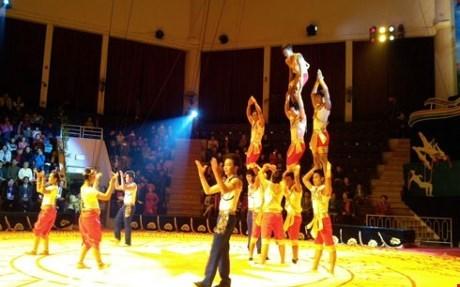 Ouverture du concours de cirque 2015 Vietnam-Laos-Cambodge hinh anh 1