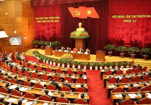 Quatrieme journee de travail du 13e Plenum du Comite central du Parti hinh anh 1