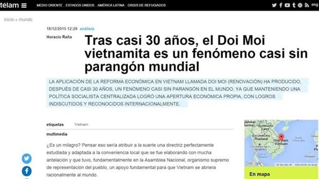 La presse argentine loue des realisations du Doi moi hinh anh 1