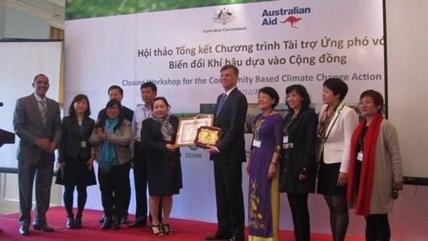 L'Australie aide le Vietnam dans la resilience au changement climatique hinh anh 1