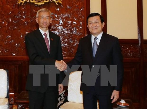 L'ambassadeur thailandais recu par le chef de l'Etat vietnamien hinh anh 1