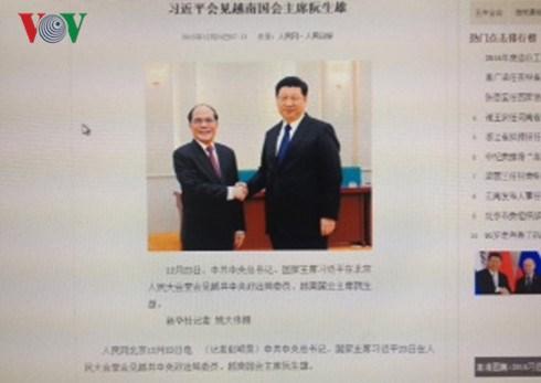 La presse chinoise salue la visite du president de l'AN Nguyen Sinh Hung hinh anh 1