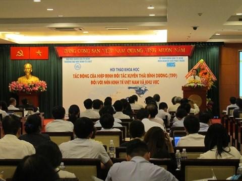 Le TPP au centre d'un colloque scientifique a Ho Chi Minh-Ville hinh anh 1