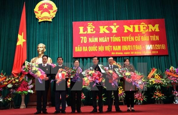 70 ans des elections legislatives : rencontre avec d'anciens deputes de Ha Giang hinh anh 1