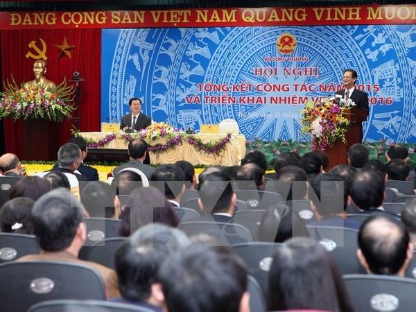 Conference-bilan de 2015 du ministere de l'Industrie et du Commerce hinh anh 1