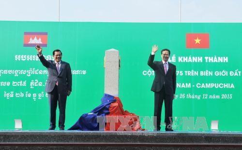 Cambodge et pays voisins : le bornage des frontieres communes presque acheve hinh anh 1