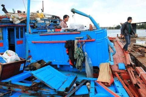 L'APV proteste contre la destruction d'un bateau de peche vietnamien hinh anh 1