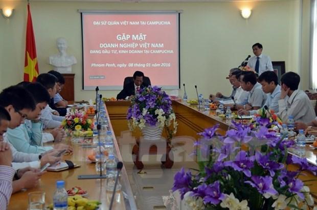 Rencontre des entreprises vietnamiennes au Cambodge hinh anh 1