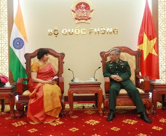 L'ambassadeur d'Inde recu par un vice-ministre de la Defense hinh anh 1