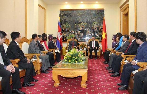 Vietnam et Cambodge renforcent leur cooperation dans la securite hinh anh 1