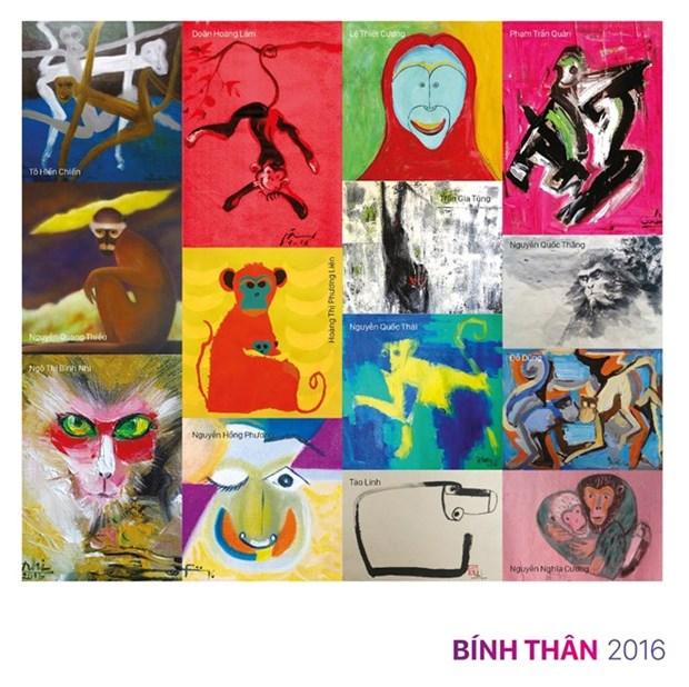 Exposition de 25 tableaux sur le singe hinh anh 1