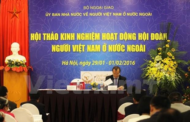 Colloque sur les activites d'associations des Vietnamiens a l'etranger hinh anh 1