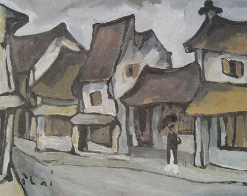 Les rues de Hanoi en peinture hinh anh 1