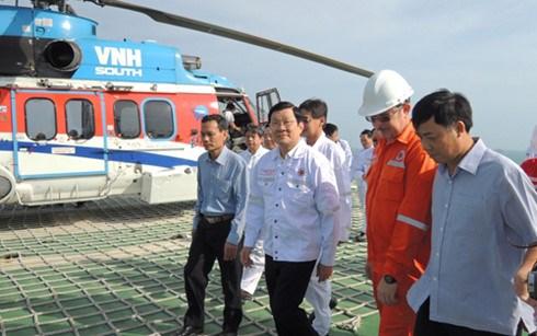 Tet : M. Truong Tan Sang presente ses vœux a des cadres de Vietsovpetro hinh anh 1